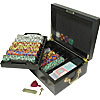 500 Chip Tri-Color Suit Set w/ Beautiful Mahogany Case