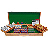 500 Tri Color Ace/King 14 gram Chips w/Genuine Oak Case