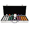 650 Tri Color Ace/King 14 gram Chip Executive Aluminum Case