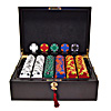 500 14g Tri Color Ace/King Suited Chips w/ Mahogany Case