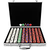 1000 Chip Tri-Color Triple Crown Set w/Aluminum Case