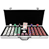 650 Chip Tri-Color Triple Crown Set w/Aluminum Case