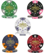 Fabulous Las Vegas Tri-color Triple Crown 11.5g Poker Chips