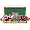 500 Las Vegas EDGE SPOT NEXGENT Poker Chips w/Oak Case