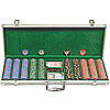 500 10g Chip Desert Sands Casino Poker Set w/Aluminum Case