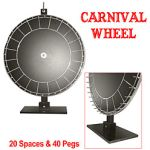 Prize Wheel 36 Inch Carnival Wheel Poker Table