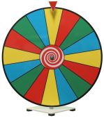 Prize Wheel 24 inch Dry Erase Color Face prize wheel 24c