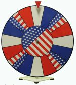 Prize Wheel 24 inch Dry Erase Patriotic Theme Face prize wheel 24f