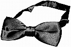 Black Banded Poker Bow Tie