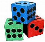 Hard Foam Dice Various Colors 1.5 inches - Sold Individually