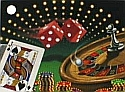 Lucky Bet Card Centerpiece Centerpieces Poker Party Casino Bet Cars