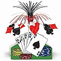 Playing table centerpiece centerpieces poker party casino party poker Centerpiece 15 inch