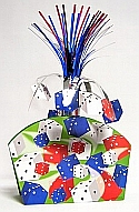 13 inch table centerpiece centerpieces poker party casino party poker Card Party