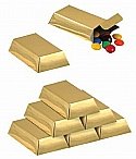Foil Gold table centerpiece centerpieces poker party casino party poker party Favor Boxes