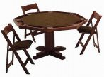 Kestell Pedestal-Base Poker Fruitwood Oak Finish Table