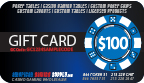 $100 Customized Poker Chip Labels gift card, gift certificate