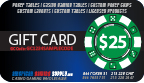$25 Customized Poker Chip Labels gift card, gift certificate