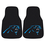 National Football League Carolina Panthers 2-piece Carpeted Cat Molded Longevity Mats 18