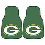 National Football League Green Bay Packers 2-piece Carpeted Cat Molded Longevity Mats 18