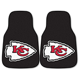 National Football League Kansas City Chiefs 2-piece Carpeted Cat Molded Longevity Mats 18
