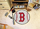 Boston Red Sox Baseball Nylon Non-Skid Vinyl Chromejet Printed Rugs 29