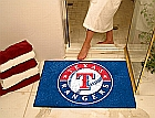 Texas Rangers All-Star Nylon Non-Skid Vinyl Chromejet Printed Rugs 34