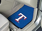 Major League Baseball Texas Rangers 2-piece Nylon Non-Skid Vinyl Carpeted Cat Mats 18