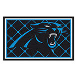 Carolina Panthers Duragon latex Rug 4x6 46