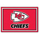 Kansas City Chiefs Duragon latex Rug 5x8 60