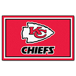 Kansas City Chiefs Duragon latex Rug 4x6 46