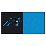 Carolina Panthers Vinyl Backing Carpet Tiles 18