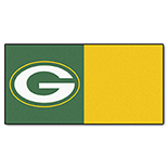 Green Bay Packers Vinyl Backing Carpet Tiles 18