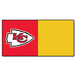 Kansas City Chiefs Vinyl Backing Carpet Tiles 18