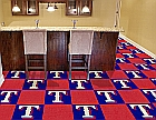 Texas Rangers Carpet Vinyl Backing Tiles 18
