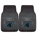 Carolina Panthers Heavy Duty 2-Piece Vinyl Car Molded Longevity Mats 18
