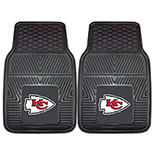 Kansas City Chiefs Heavy Duty 2-Piece Vinyl Car Molded Longevity Mats 18