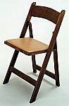 Kestell Hardwood Folding Fruitwood Oak Finish Chairs