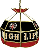 16 inch Miller High Life tiffany lamp game room lamp stained glass lamp pub table lamp