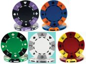 Tri-Color Suit Design 11.5g Poker Chips