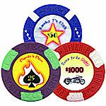 Customized Poker Chip Labels