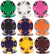 14 Gram Tri Color Ace King Suited Clay Poker Chips
