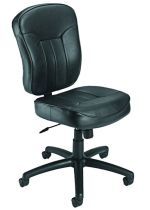 B1560 Poker Chair Leatherplus No Arms Chair