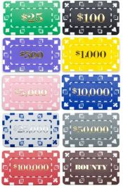 Denominated Poker Plaques