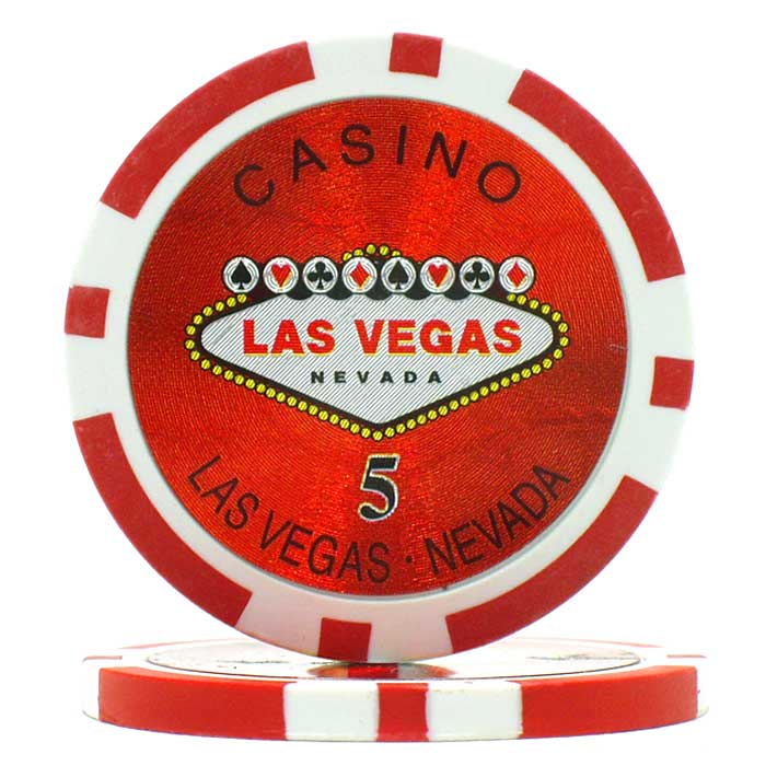 15g Clay Welcome To Las Vegas Chip Laser
