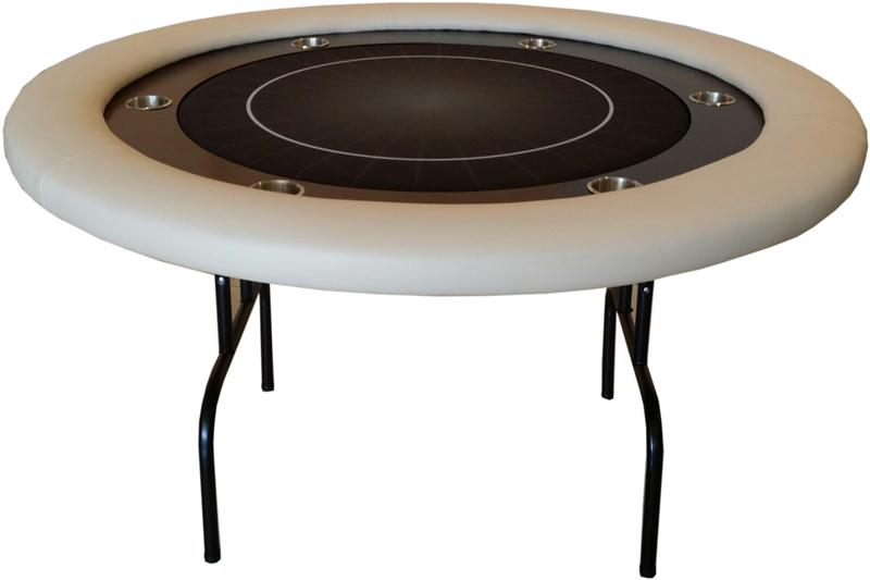 Attractive Round Poker Table With Folding Legs