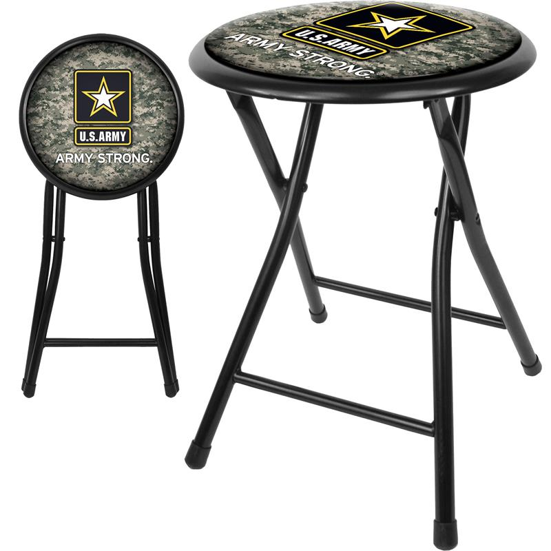 Excellent U S Army Digital Camo 18 Inch Folding Stool Black Inzonedesignstudio Interior Chair Design Inzonedesignstudiocom