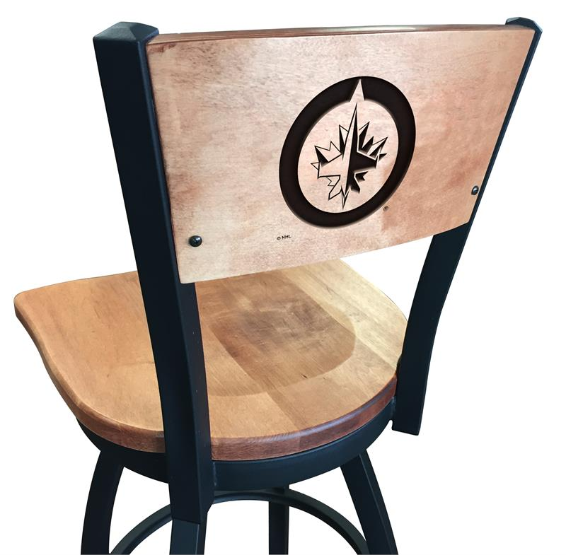 Terrific L038 Black Wrinkle Winnipeg Jets Swivel Bar Stool With Cjindustries Chair Design For Home Cjindustriesco