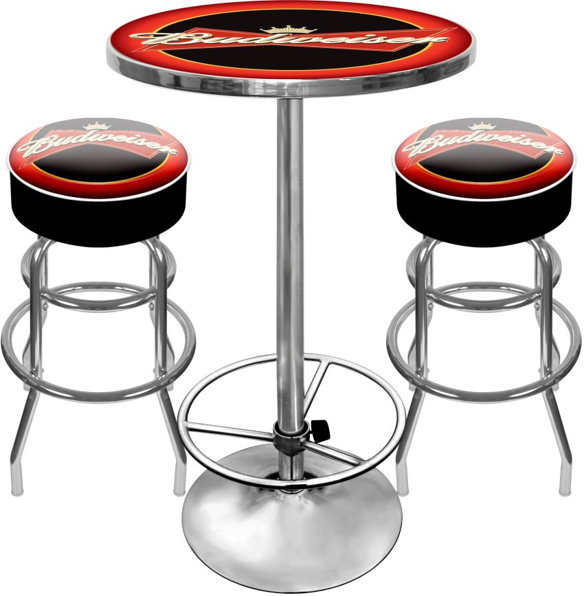 Superieur Custom Two Bar Stools And Custom Table Combo For Your Mancave