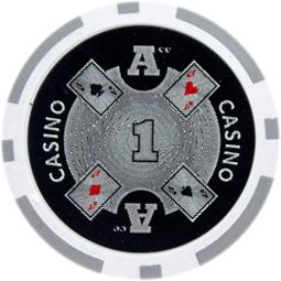 Ace Casino 14 gram - $1 Sold by the Roll25 pcs. per Roll