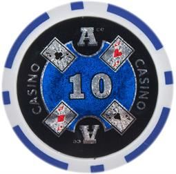 Ace Casino 14 gram - $10 Sold by the Roll25 pcs. per Roll